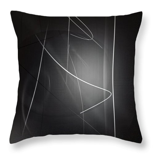 Abstract Throw Pillow featuring the digital art Amorphism by John Krakora