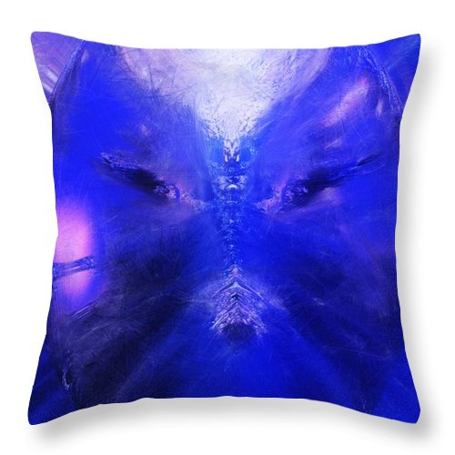 Digital Painting Throw Pillow featuring the digital art An Alien Visage by David Lane