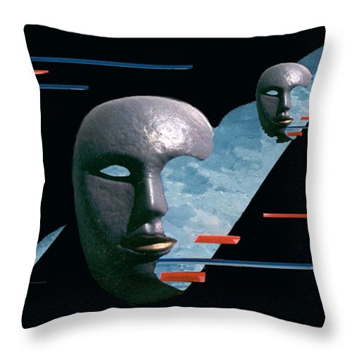 Surreal Throw Pillow featuring the digital art An Androids Dream by Steve Karol