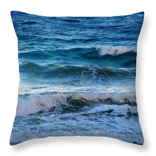 Sea Throw Pillow featuring the photograph An Unforgiving Sea by Ian MacDonald