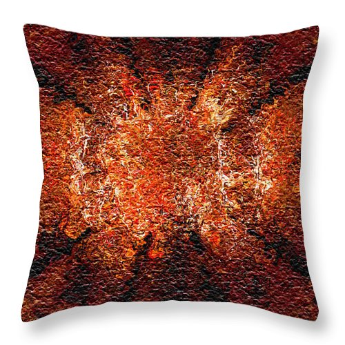 Abstract Throw Pillow featuring the digital art Analytical Explosion by Charmaine Zoe