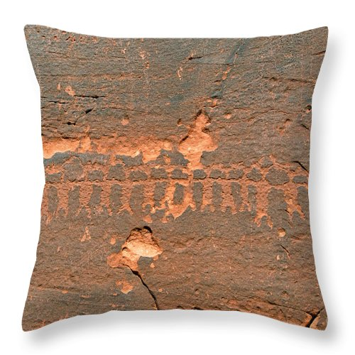 Anasazi Throw Pillow featuring the photograph Anasazi Dancers by David Lee Thompson