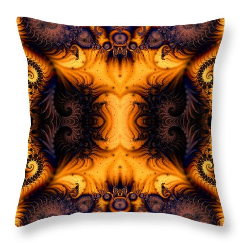 Clay Throw Pillow featuring the digital art Anatomy Of Fuzzy Logic by Clayton Bruster