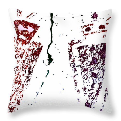 Rock Art Throw Pillow featuring the painting Ancient Art by David Lee Thompson