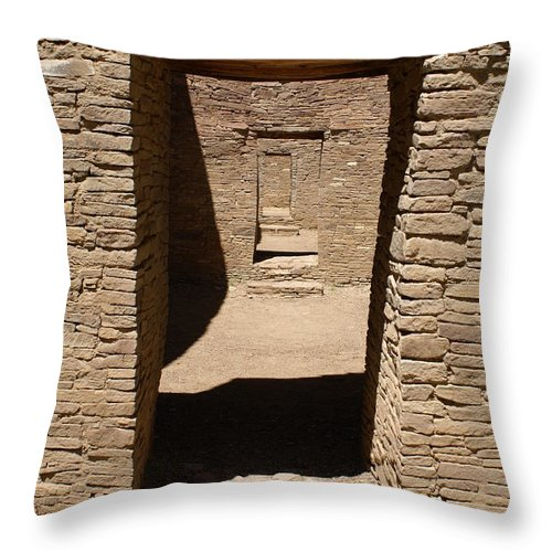 Ancient Doorways Throw Pillow featuring the photograph Ancient Doorways by Mary Ourada