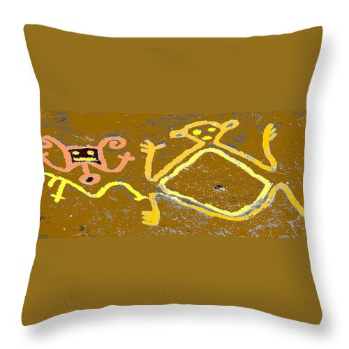Native Throw Pillow featuring the photograph Ancient Drawings by Ian MacDonald