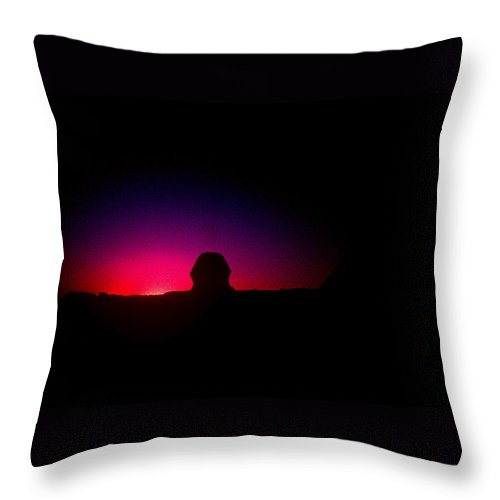 Sphinx Throw Pillow featuring the photograph Ancient Evenings by Gary Wonning