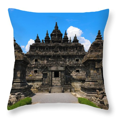 Ancient Throw Pillow featuring the photograph Ancient Temple by Charuhas Images