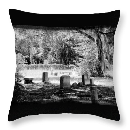 Shannon Throw Pillow featuring the photograph And Here We Rest by Shannon Sears