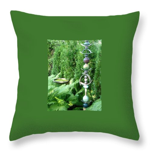 Sculpture Throw Pillow featuring the photograph And Sculpture Garden by Line Gagne