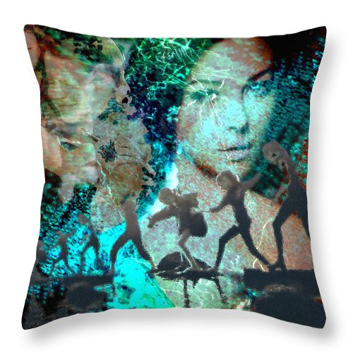 Childhood Throw Pillow featuring the digital art And that Reminds Me by Seth Weaver