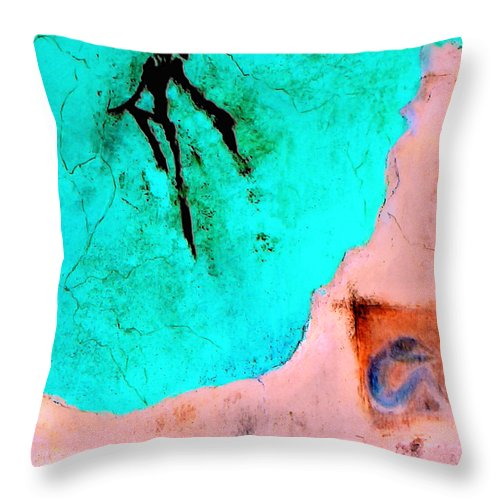 Spirit Afterlife Innerself Soul Fly Throw Pillow featuring the painting And The Spirit Moved by Veronica Jackson