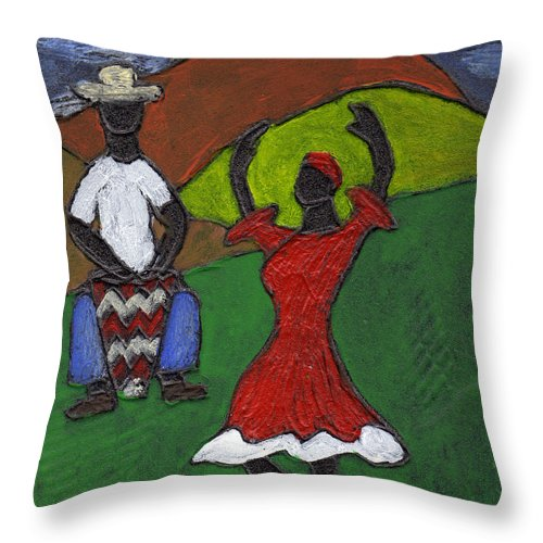 Dance Throw Pillow featuring the painting and Then She began to Dance by Wayne Potrafka