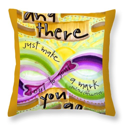 Soul Throw Pillow featuring the painting And There You Go by Vonda Drees