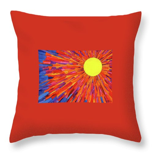 Throw Pillow featuring the painting Andrea 43 by Charles Cater