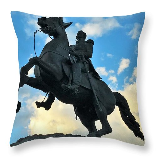 New Orleans Throw Pillow featuring the photograph Andrew Jackson by Roger Kinnaman