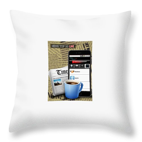 Android Apps Throw Pillow featuring the digital art Android App Development Abu Dhabi by Michaeltim