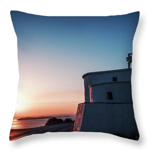 Andros Throw Pillow featuring the photograph Andros Island Sunset - Greece by Alexander Voss