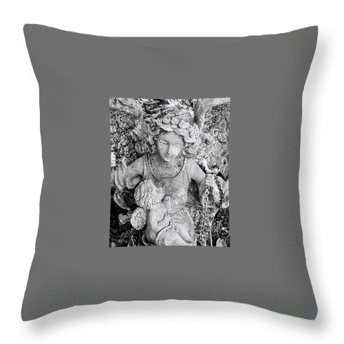 Wings Throw Pillow featuring the photograph Angel And Child by George Elliott