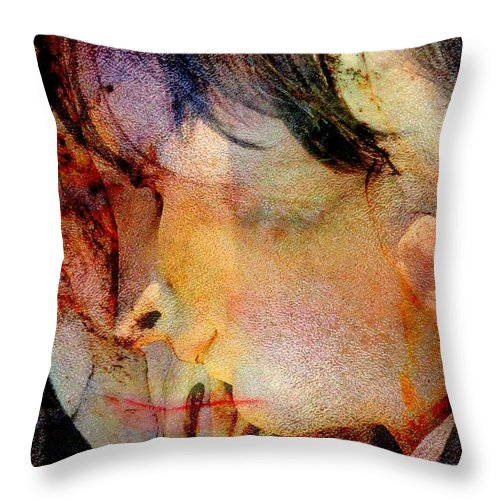 Angel Throw Pillow featuring the digital art Angel Blessings by Derick Burke