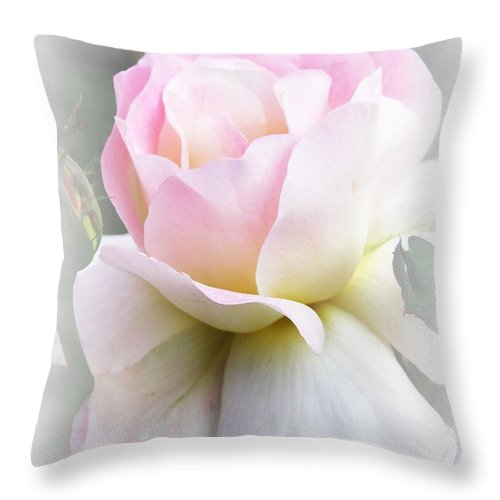 Rose Throw Pillow featuring the photograph Angel by Carol Sweetwood
