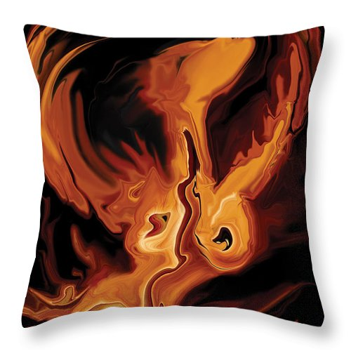 Ability Throw Pillow featuring the digital art Angel Dance by Rabi Khan
