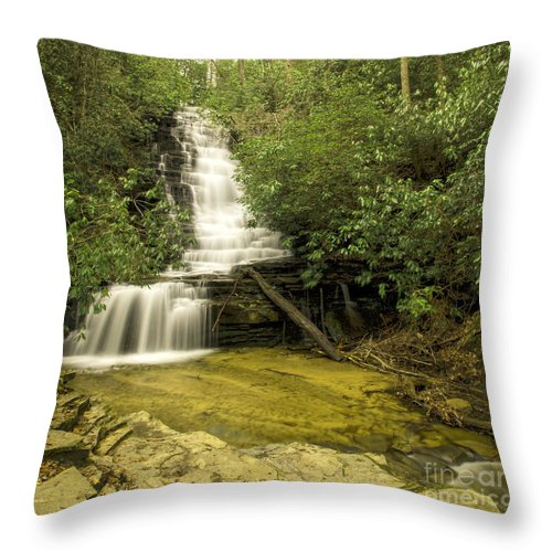 Angel Falls Throw Pillow featuring the photograph Angel Falls by Barbara Bowen