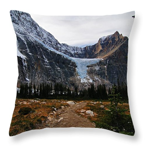 Angel Glacier Throw Pillow featuring the photograph Angel Glacier by Larry Ricker