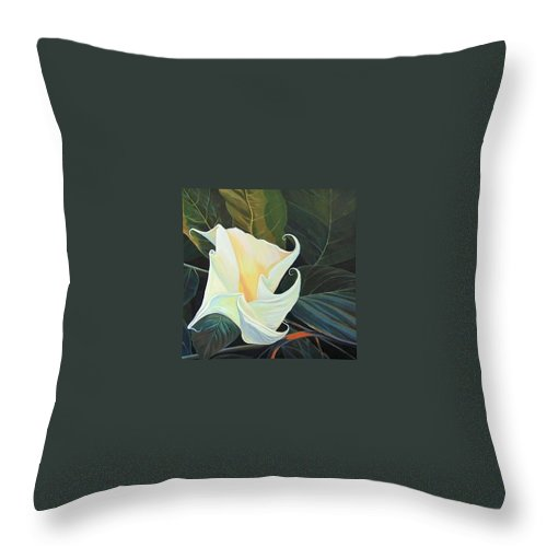 Angel Throw Pillow featuring the painting Angel by Hunter Jay