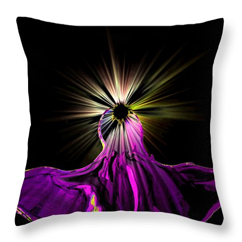 Angel Throw Pillow featuring the digital art Angel In The Night by Abstract Angel Artist Stephen K