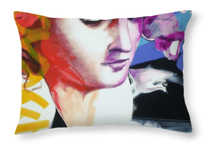 Pop Throw Pillow featuring the painting Angel by Jean Pierre Rousselet