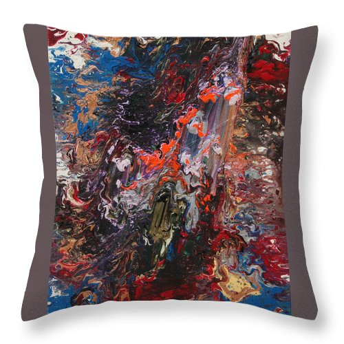 Fusionart Throw Pillow featuring the painting Angel Rising by Ralph White