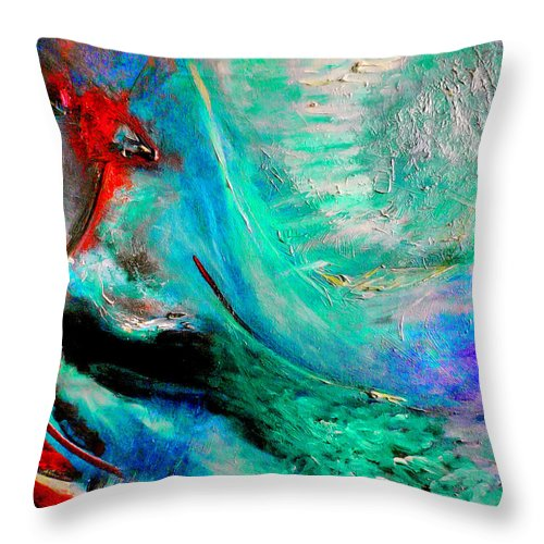 Abstract Throw Pillow featuring the painting Angel Vortex by Michael Durst