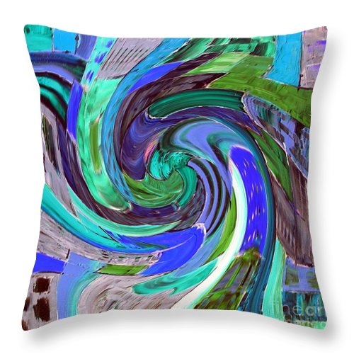 Angel Wings Throw Pillow featuring the painting Angel Wings by Dawn Hough Sebaugh