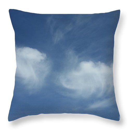 Angel Wings Throw Pillow featuring the photograph Angel Wings In The Sky by Carol Groenen
