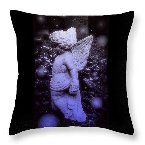 Angels And Fireflies Throw Pillow featuring the photograph Angels And Fireflies by Darin Baker