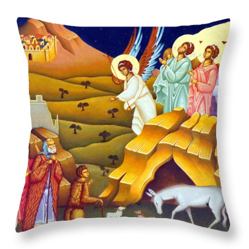 Village Throw Pillow featuring the photograph Angels And Shepherds by Munir Alawi