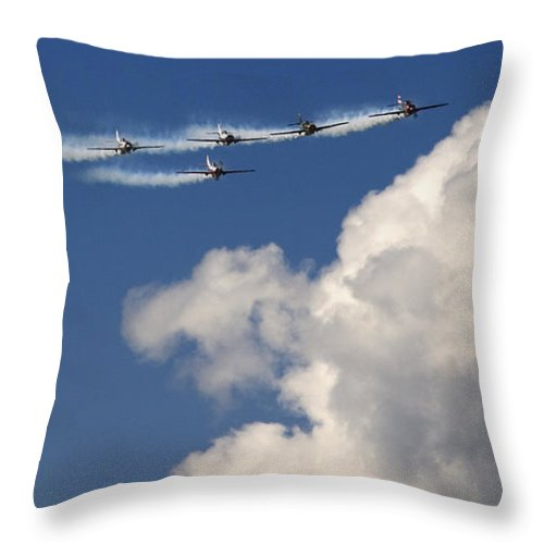 Angels Throw Pillow featuring the photograph Angels by Angel Tarantella
