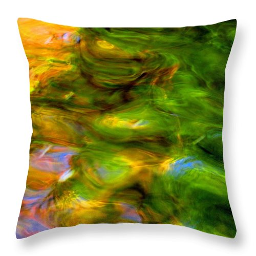 Abstract Throw Pillow featuring the photograph Angels Are Always Near by Sybil Staples
