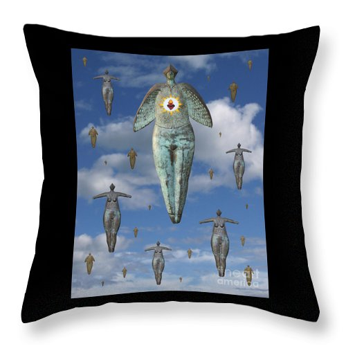 Digital Art Throw Pillow featuring the digital art Angels Of Quebec by Keith Dillon