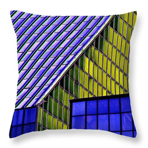 Seattle Throw Pillow featuring the photograph Angles In The Sky by Tim Allen