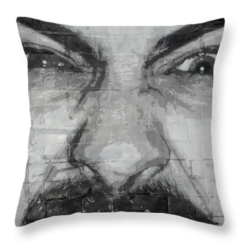 Man Throw Pillow featuring the photograph Angry Man by Luigi Petro