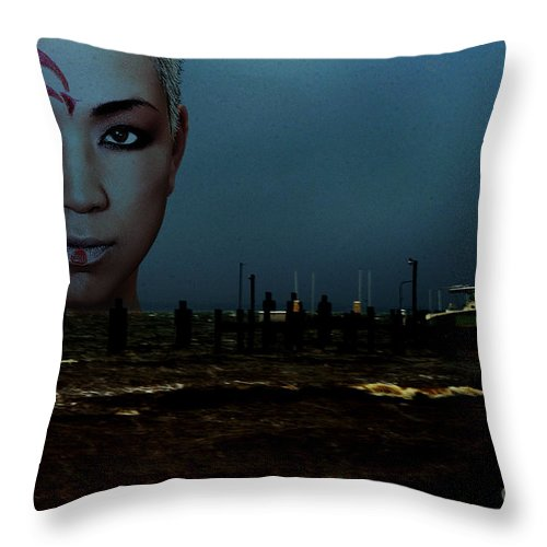 Clay Throw Pillow featuring the photograph Angry Sea by Clayton Bruster