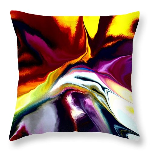Abstract Throw Pillow featuring the digital art Angst by David Lane