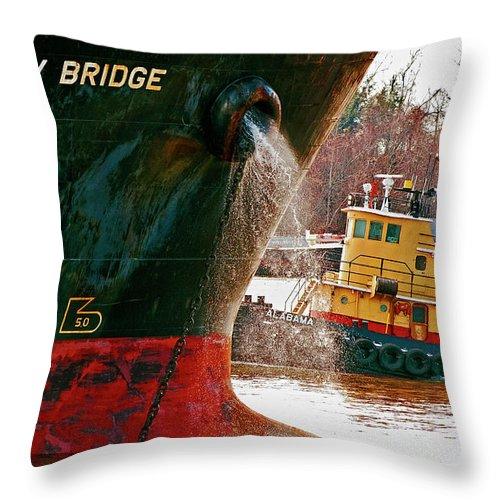 Ship Throw Pillow featuring the photograph Anichkov Bridge by Kathleen K Parker
