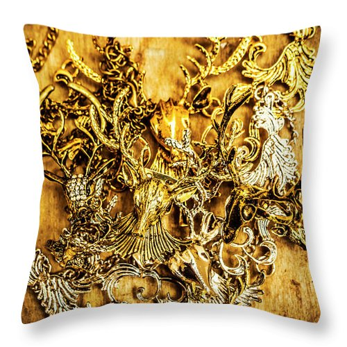 Animal Throw Pillow featuring the photograph Animal Amulets by Jorgo Photography - Wall Art Gallery