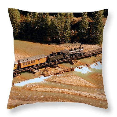Animas River Throw Pillow featuring the photograph Animas River Crossing by David Lee Thompson