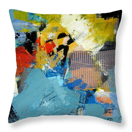 Modern Abstract Paintings Throw Pillow featuring the painting Animato by Diane Desrochers