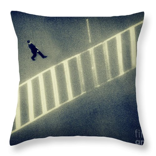City Throw Pillow featuring the photograph Anonymity by Dana DiPasquale