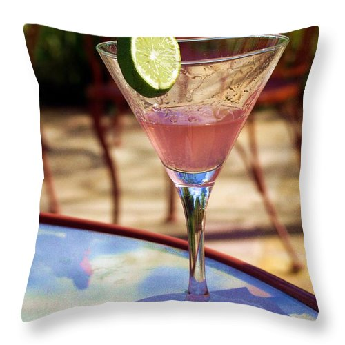 Drink Throw Pillow featuring the photograph Another Cosmo Please by Matthew Klein